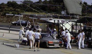 50.000-km-Rekordfahrt in Nardo, 13. - 21.08.1983. Mercedes-Benz Rekordwagen Typ 190 E 2.3-16